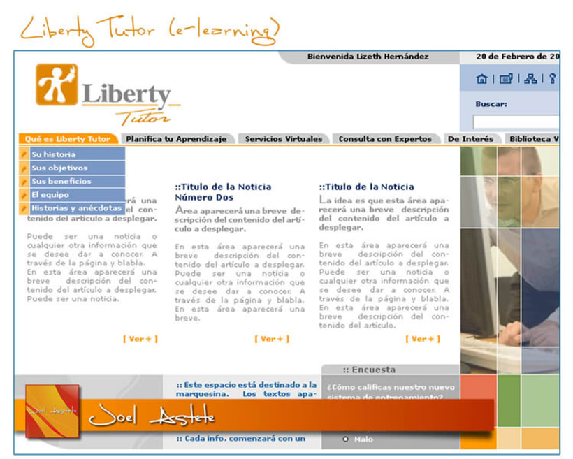 Liberty Tutor (Intranet propuesta) 4