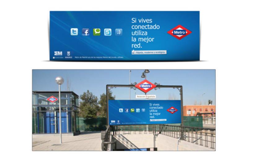 Campaña Simpre Conectado Metro 4