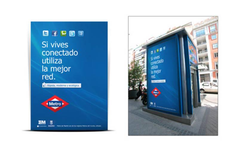 Campaña Simpre Conectado Metro 3