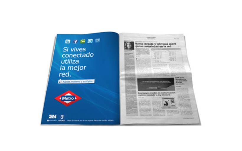 Campaña Simpre Conectado Metro 2