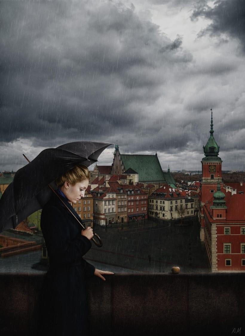 Book cover for a novel «Three Halves of an Apple» by a Polish author Antonina Kozlowska  1