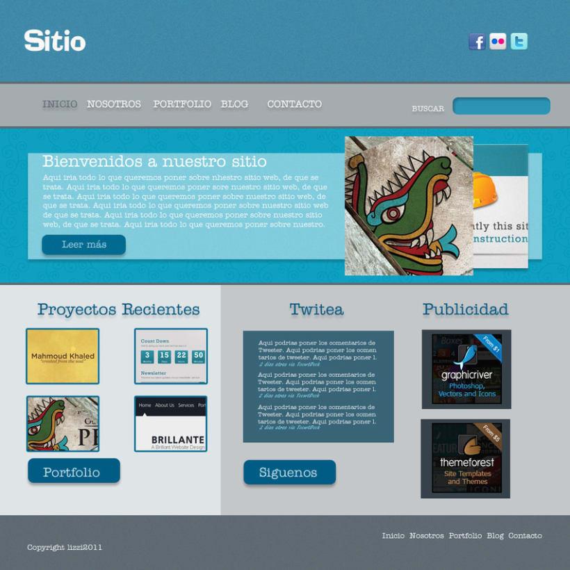 Sitio Web Azul 1