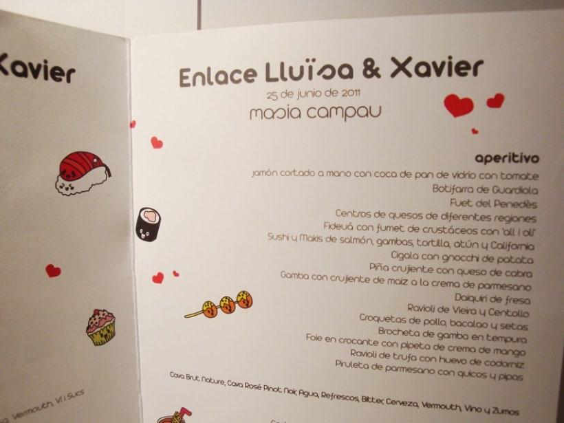 Boda Lluïsa & Xavier: Minuta 5