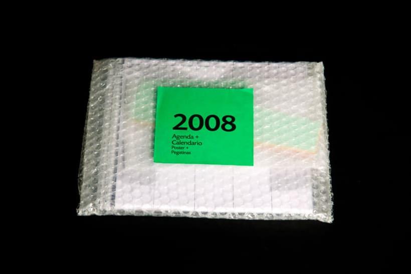 Agenda + Calendario + Poster (Resumen estado de ánimo anual gráfico) 2008 2