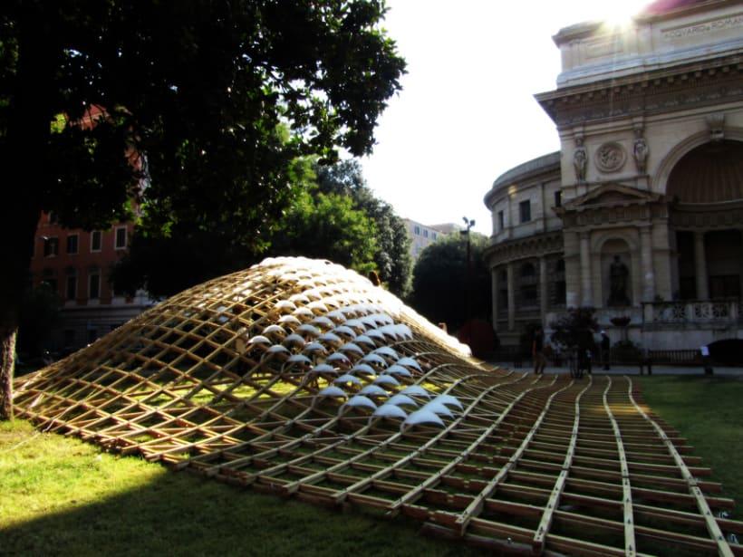 Wood Gridshell Pavilion - Roma 4