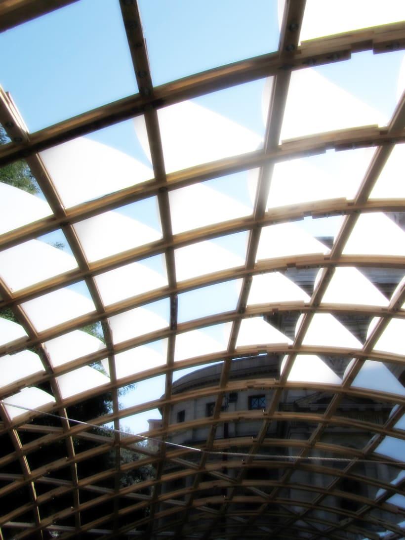 Wood Gridshell Pavilion - Roma 2