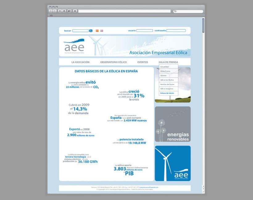 Web AEE, Asociación Empresarial Eólica 4