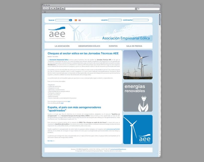 Web AEE, Asociación Empresarial Eólica 3