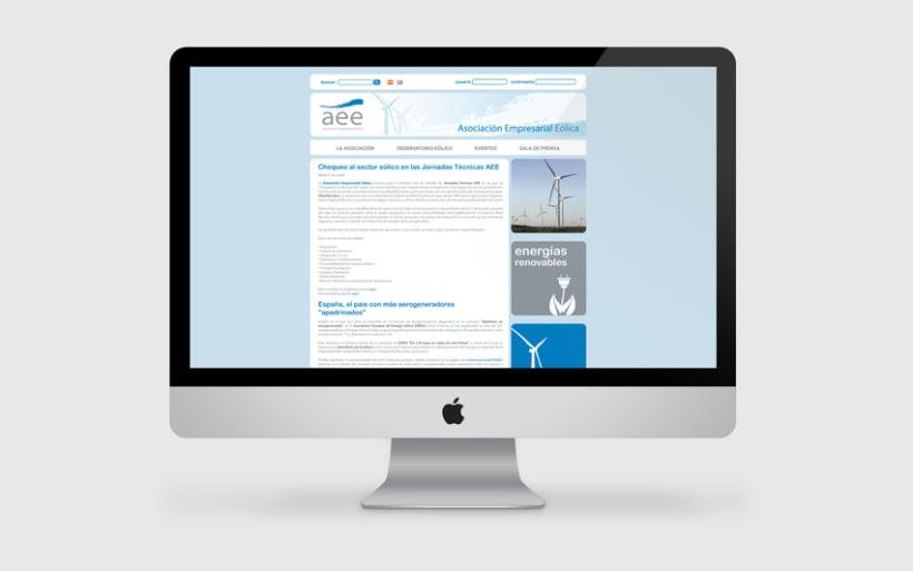 Web AEE, Asociación Empresarial Eólica 2