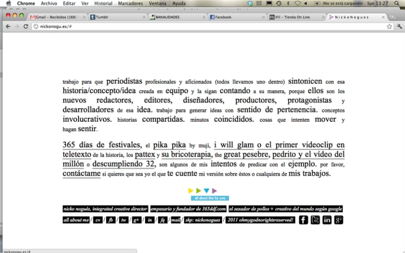 simple & clear web design. 3