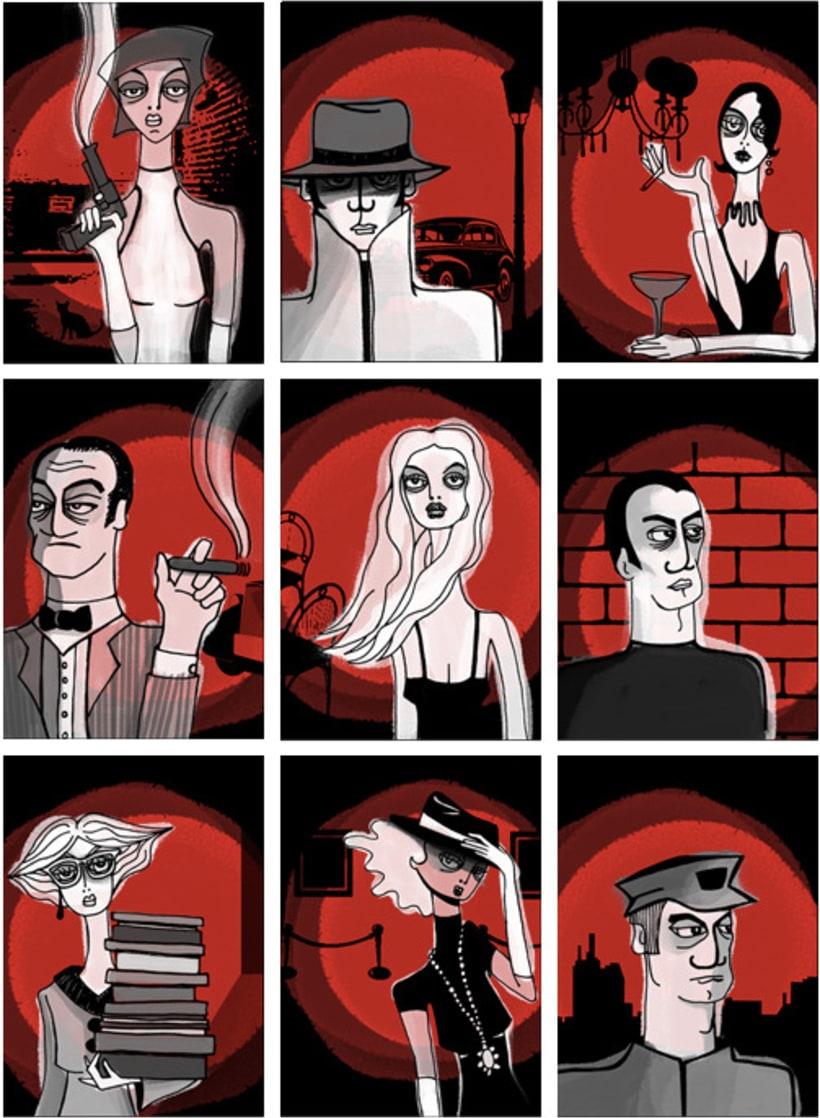 Ilustración personajes · Novela Negra 2