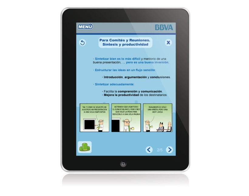 BBVA. Aplicación iPad 6