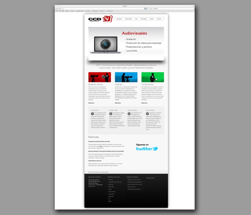 Web CCDtv Producciones 2