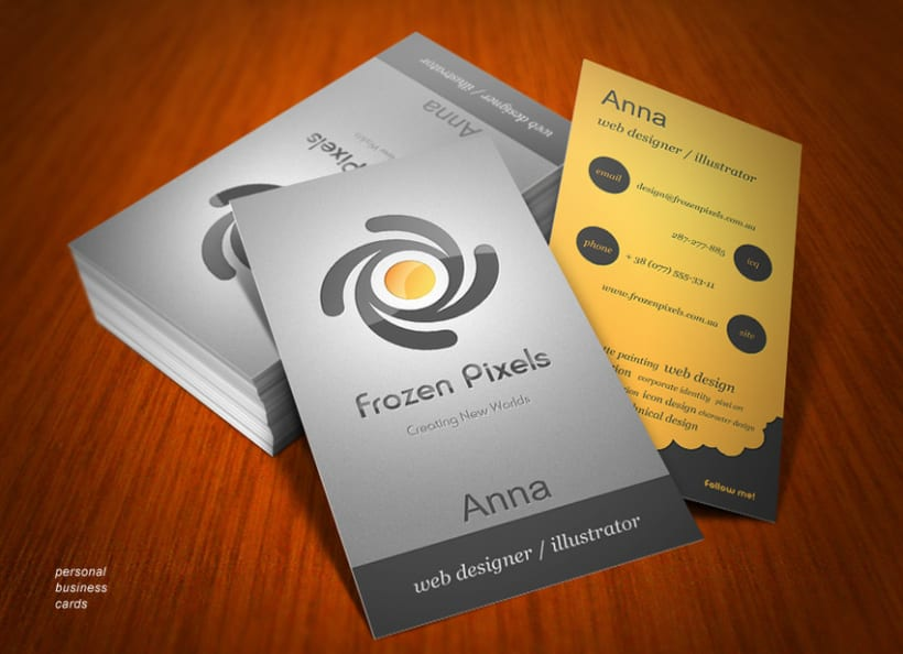 Frozen Pixels Studio corporate identity 4