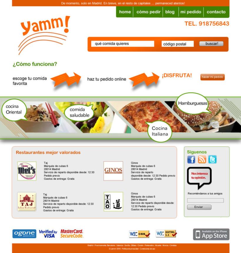 página web de Yamm 1