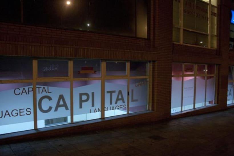 Diseños de las cristaleras de Capital Languages en Bilbao 11