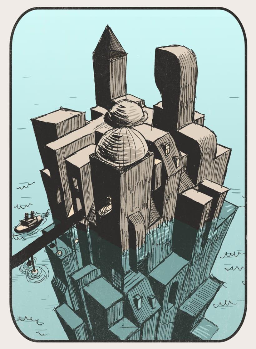 Ciudades imaginarias (Ilustraciones) 3