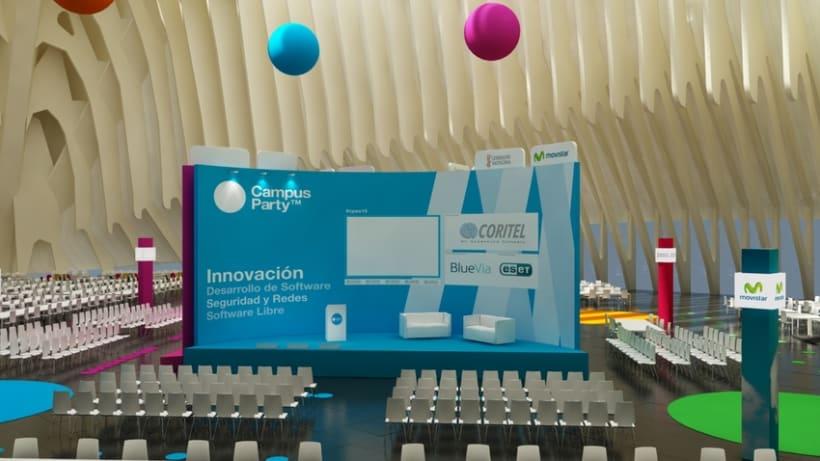 Escenografía Evento Campus Party Valencia 2011 2