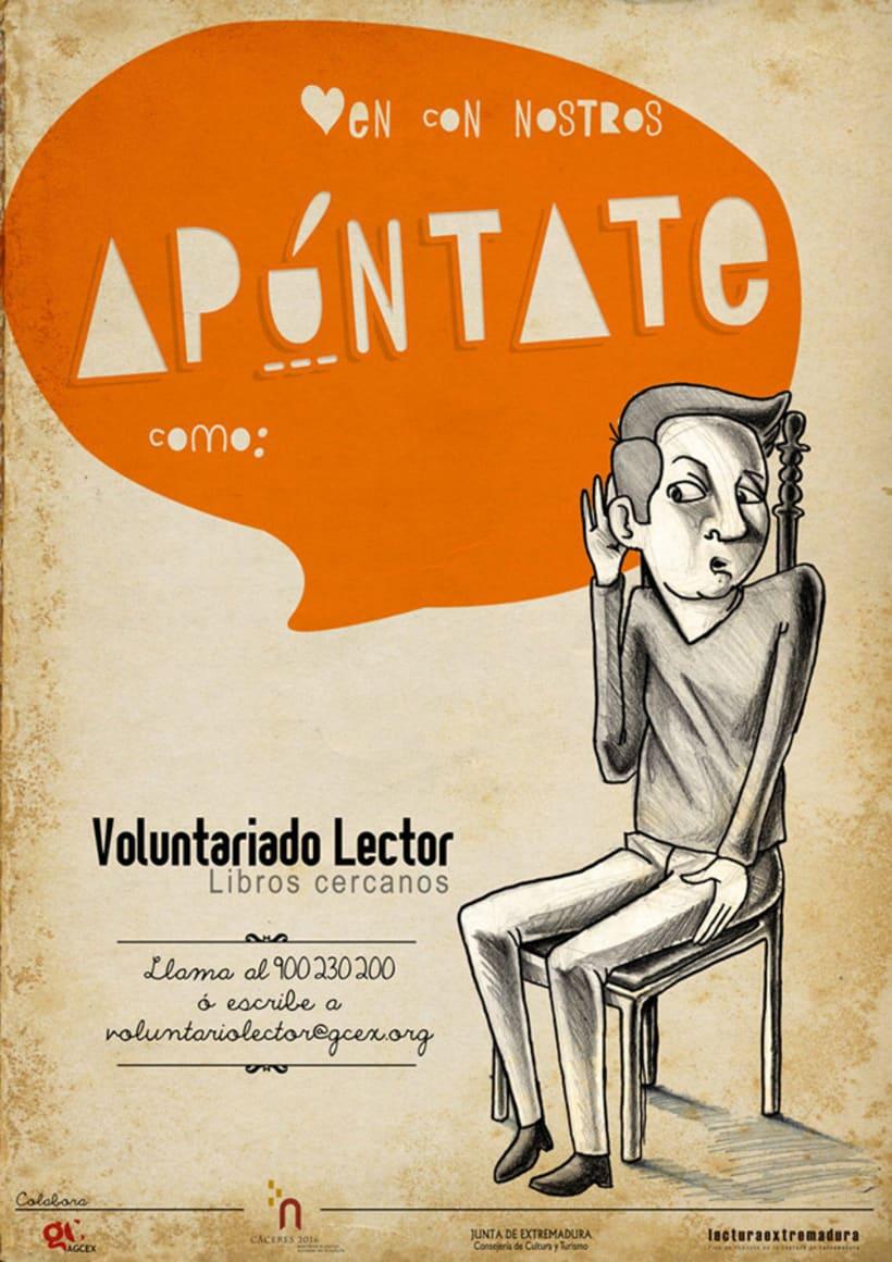 Logotipo & Cartelería para Voluntariado lector 10
