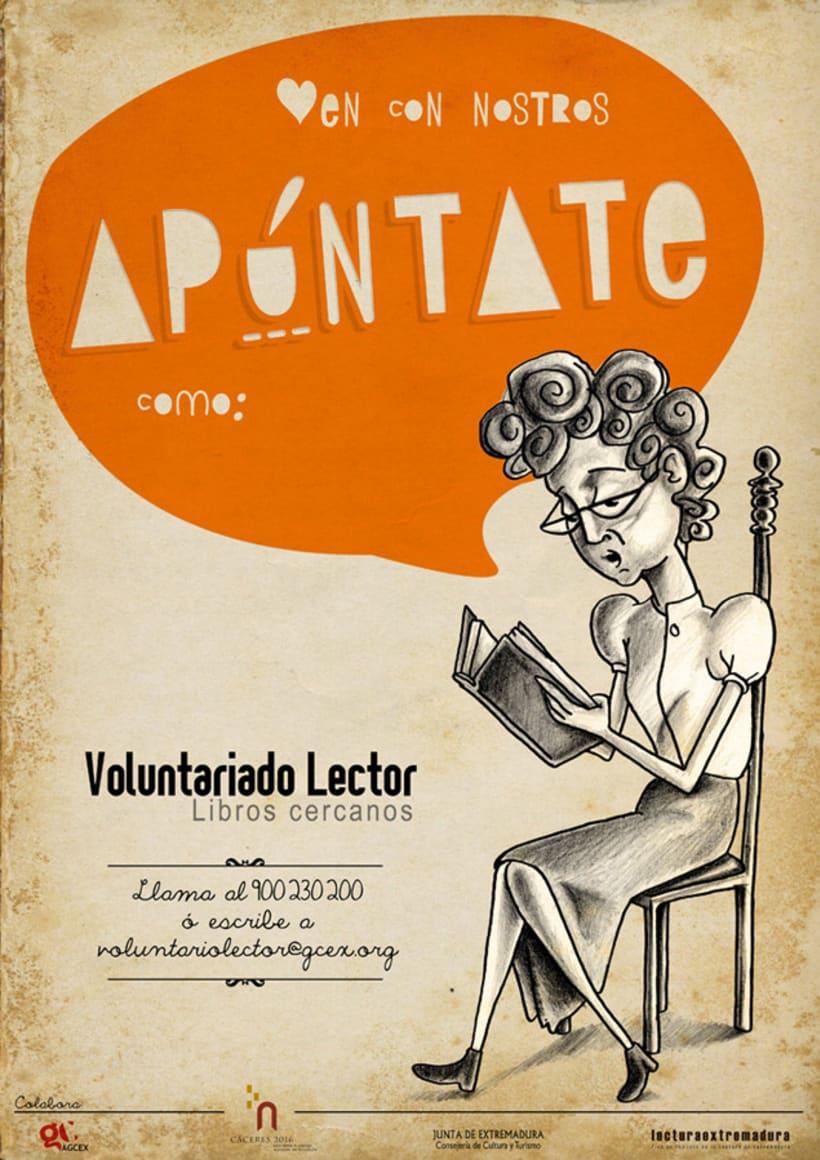 Logotipo & Cartelería para Voluntariado lector 8