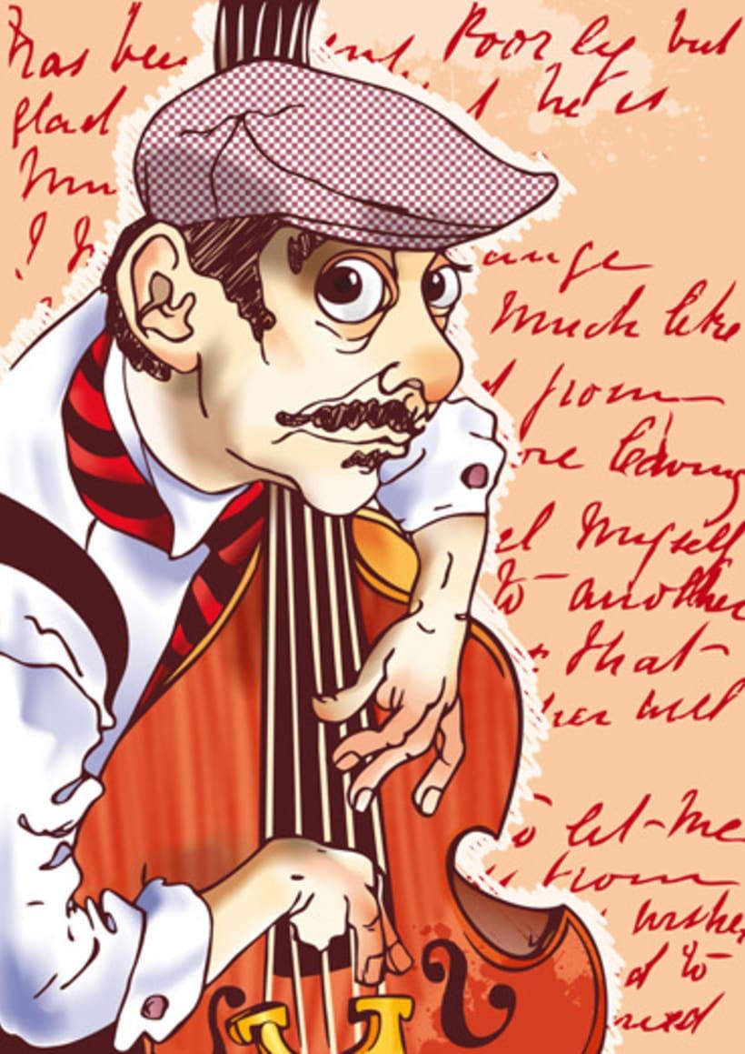 Músicos en Berlin - Dibujos sobre la banda berlinesa Whatever Rita wants 6