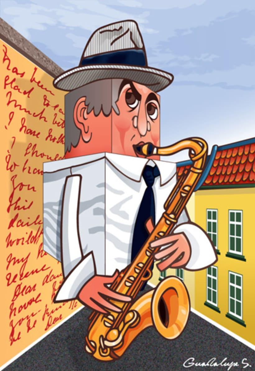 Músicos en Berlin - Dibujos sobre la banda berlinesa Whatever Rita wants 1
