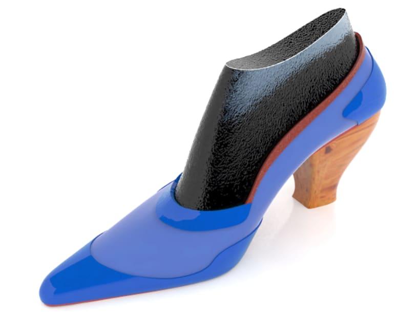 Modelado de zapato para mujer 2