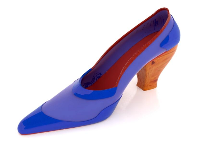 Modelado de zapato para mujer 3