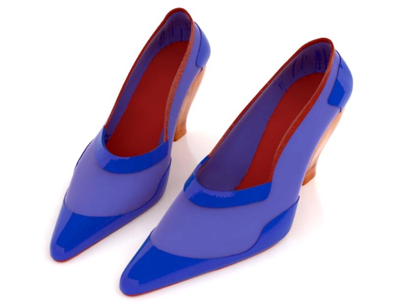 Modelado de zapato para mujer 4