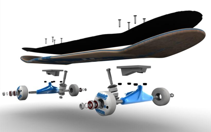 3D Skateboard 1