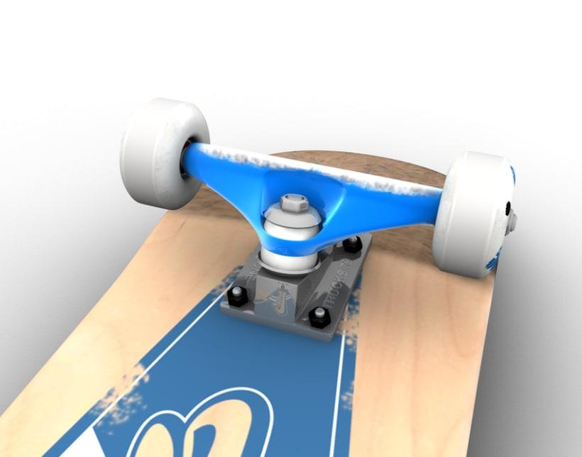 3D Skateboard 4