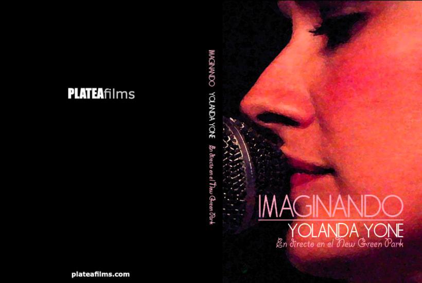 Portada y cd del directo de Yolanda Yone en el bar New Green Park de Barcelona. Proyecto para la productora PLATEAfilms 1
