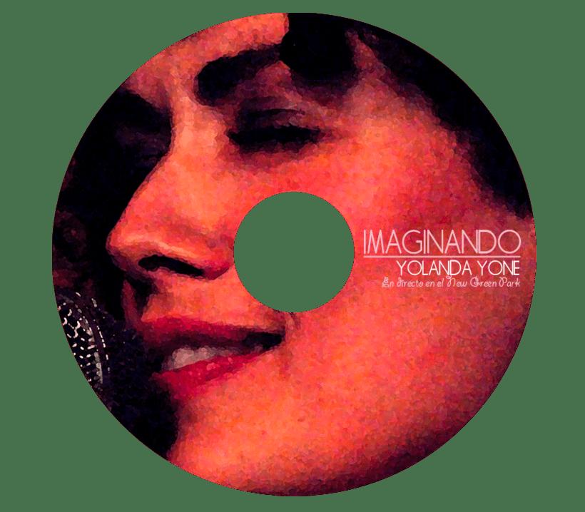 Portada y cd del directo de Yolanda Yone en el bar New Green Park de Barcelona. Proyecto para la productora PLATEAfilms 3