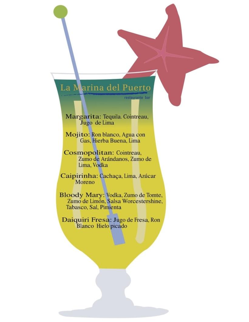 Carta de cocktails La Marina, Huelva 1