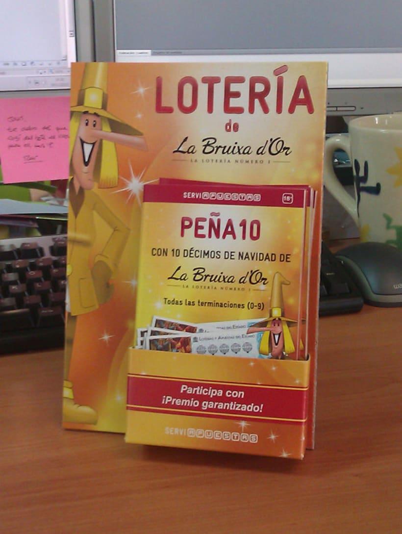 Campaña para la venta de Lotería de La Bruixa d'Or 2