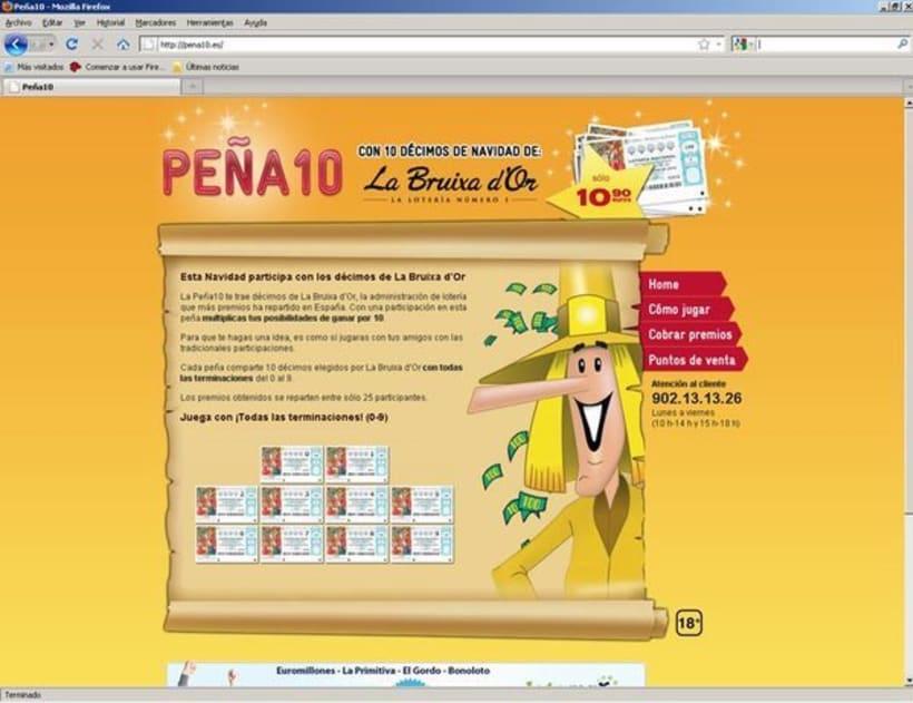 Campaña para la venta de Lotería de La Bruixa d'Or 5