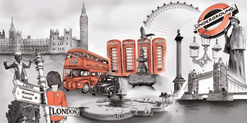 Ilustración Digital: Londres 2