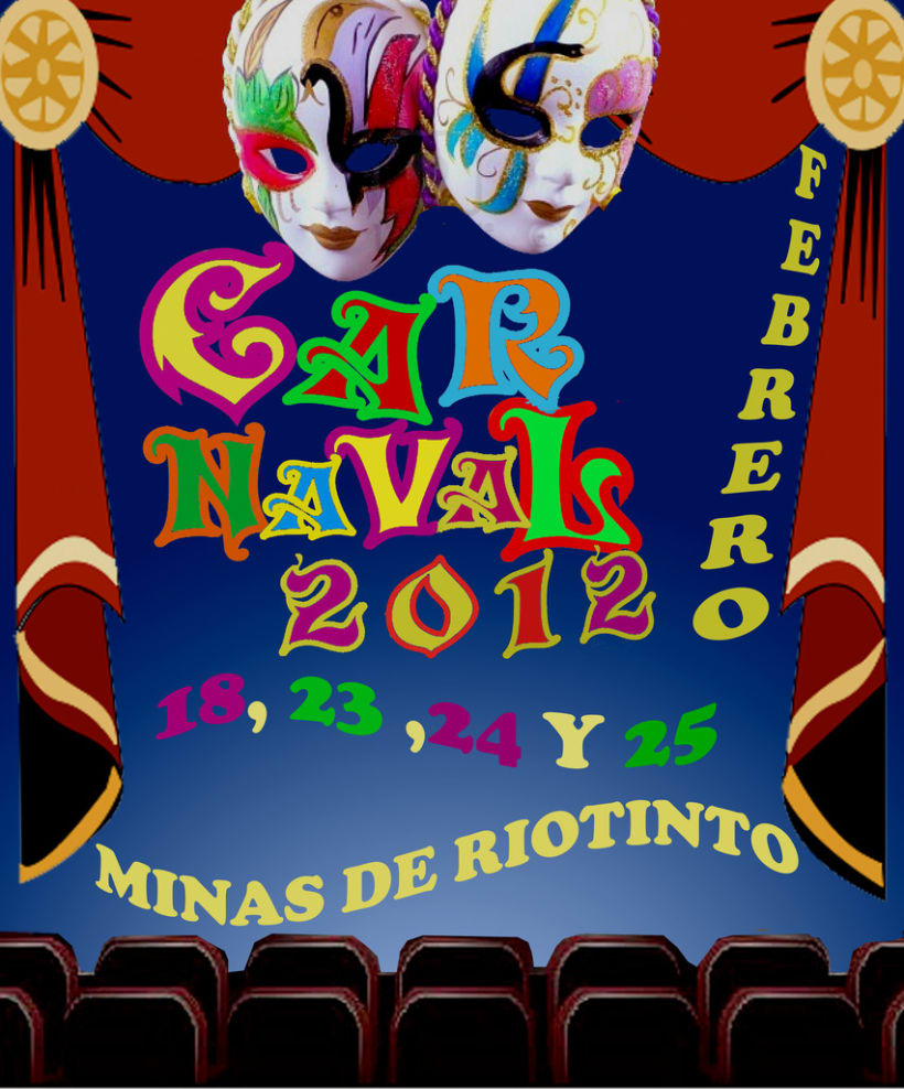 Cartel ganador carnaval Minas de Riotinto 1