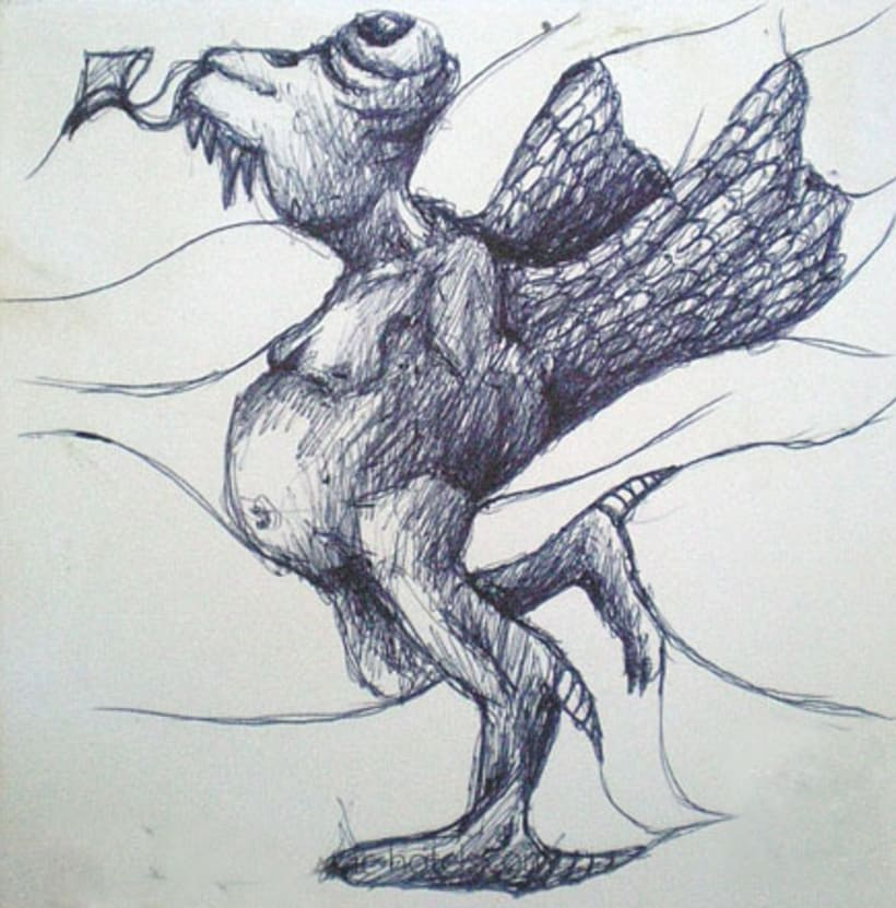 Ilustración con Bolígrafo 7