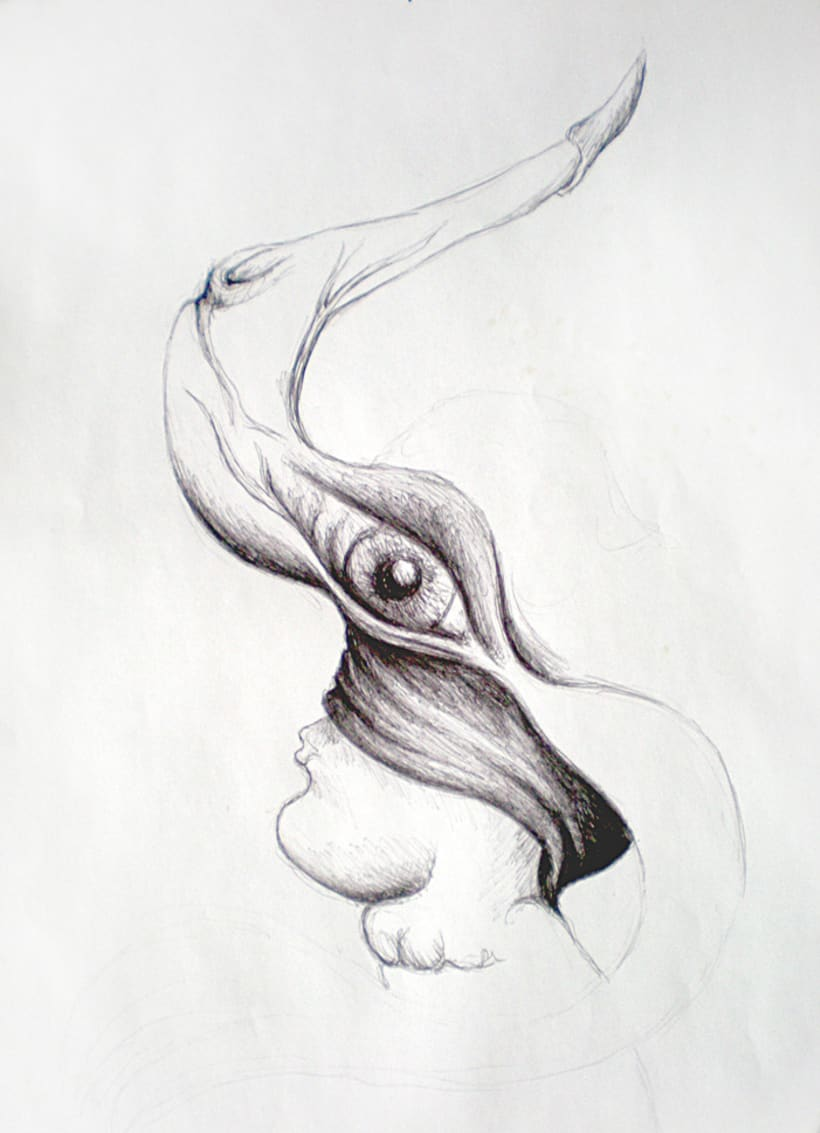 Ilustración con Bolígrafo 1