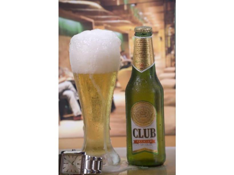 Fotografia de cerveza (Hielo y espuma falsa) 1