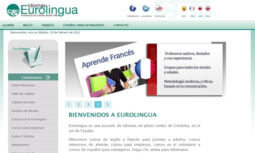 Website Eurolingua 1