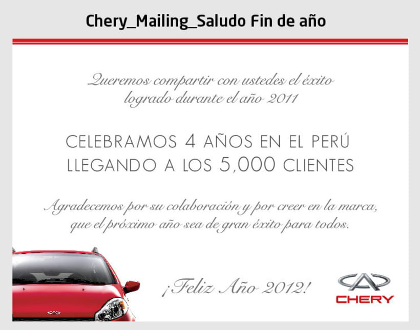 Chery - Mailings 1