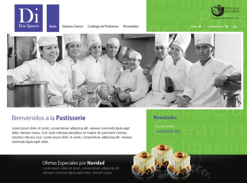 Website de Di Don Ignacio, la patisserie 2