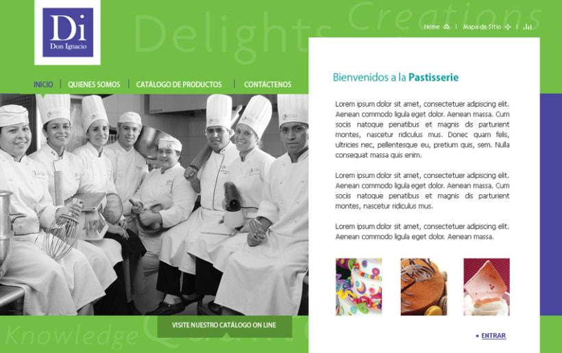 Website de Di Don Ignacio, la patisserie 1