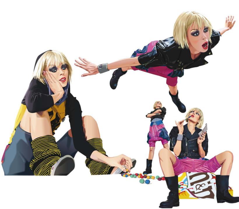 Ilustración de personajes Wendy&Rita 1
