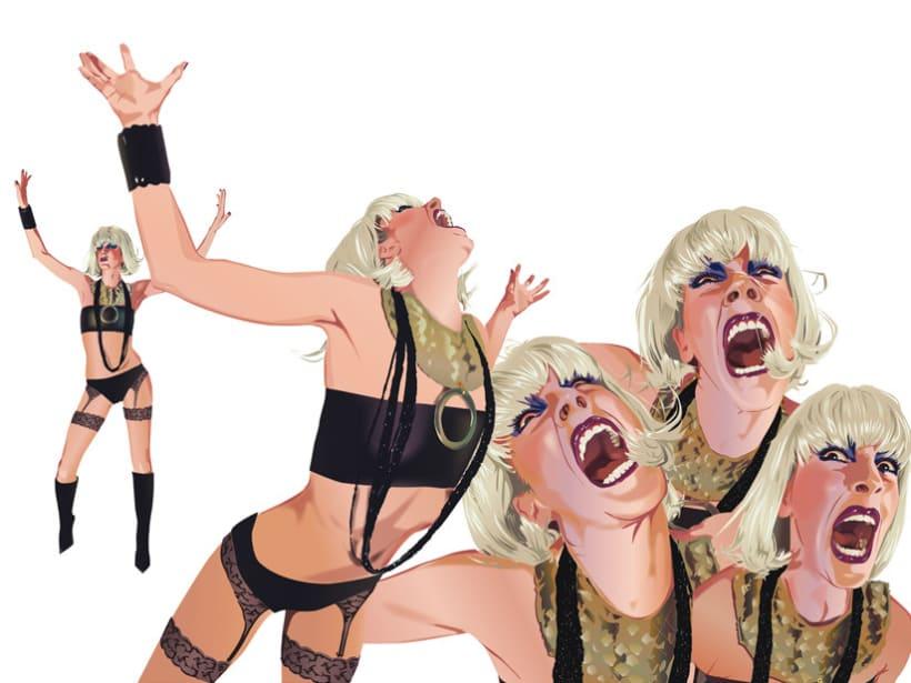 Ilustración de personajes Wendy&Rita 2