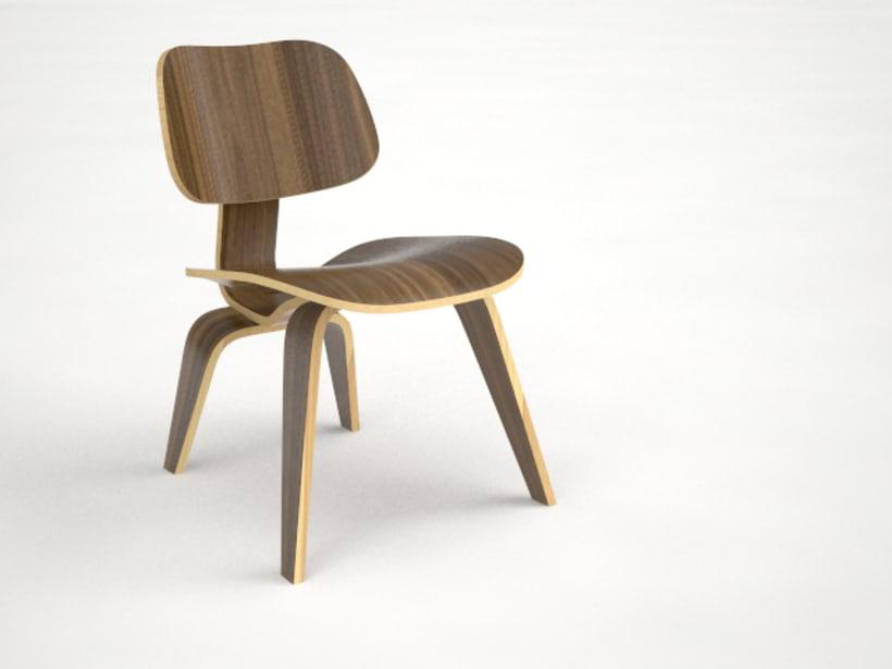 Modelo 3d eames chair_Rhino 1