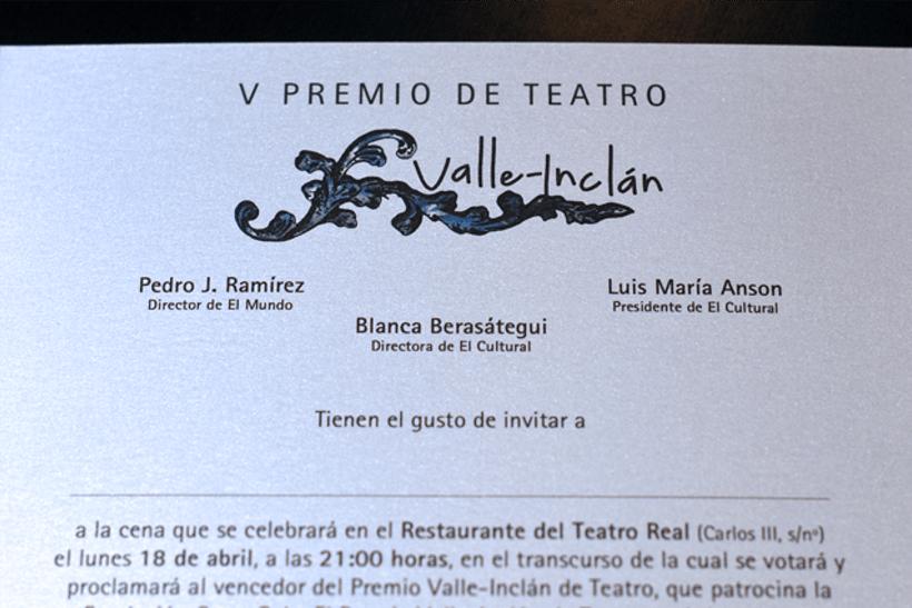 Premios Valle-Inclán 3
