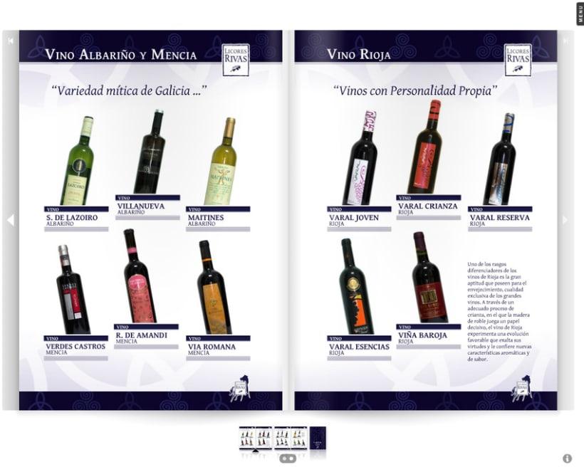 Licores rivas cat logo bebidas 2012 domestika for Modelo de catalogo de productos